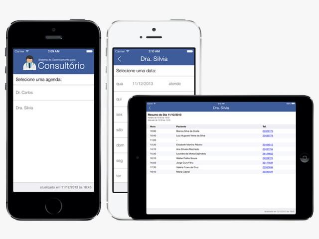 Agenda Online permite ver sua agenda médica do Consultório VBB Software na nuvem.
